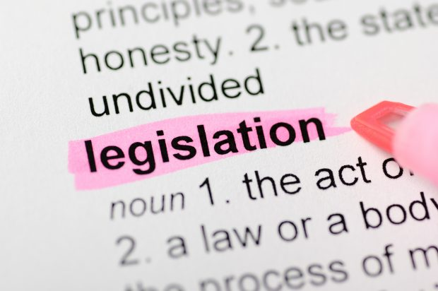 Legislation highlighted in dictionary